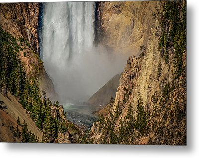 Falls Mist Metal Print by Yeates Photography