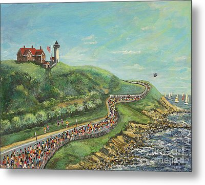 Falmouth Road Race Metal Print by Rita Brown