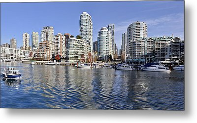 False Creek And Vancouver Metal Print by Allen Carroll