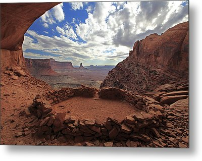 Metal Print featuring the photograph False Kiva by Alan Vance Ley