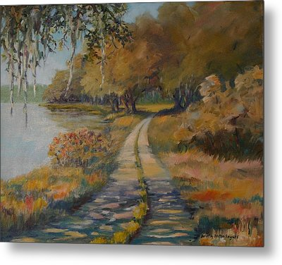 Familiar Road Metal Print by Dorothy Allston Rogers