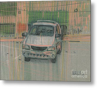 Family Car Metal Print by Donald Maier