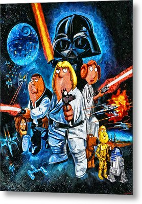 Family Guy Star Wars Metal Print