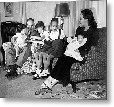 Family Of Charles Drew Metal Print by National Library Of Medicine