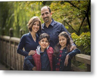 Family Portrait On Bridge - 1 Metal Print by Lori Grimmett