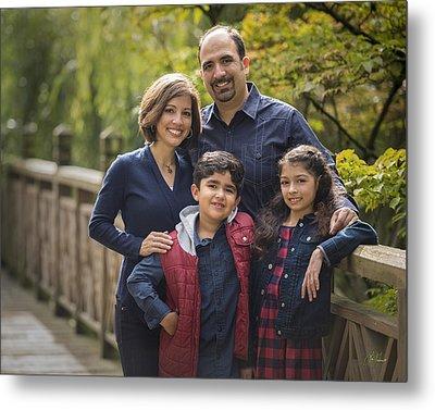 Family Portrait On Bridge - 2 Metal Print by Lori Grimmett