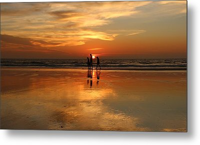 Family Reflections At Sunset -3  Metal Print