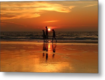 Family Reflections At Sunset - 1 Metal Print