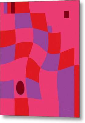 Family Values Squared Skewed Metal Print
