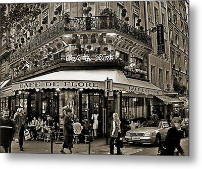 Famous Cafe De Flore - Paris Metal Print