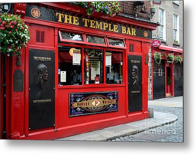 Famous Temple Bar In Dublin Metal Print by IPics Photography