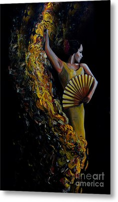 Fan Dance Metal Print by Nancy Bradley