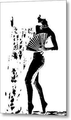 Fan Dancer Metal Print