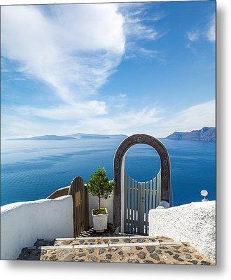 Fanastic View From Santorini Island Metal Print