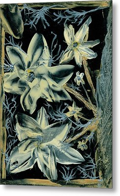 Fanciful Flowers 2 Metal Print