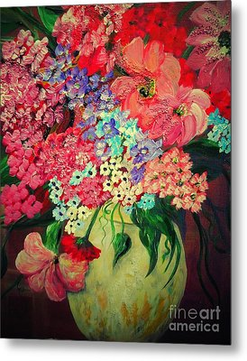 Fanciful Flowers Metal Print