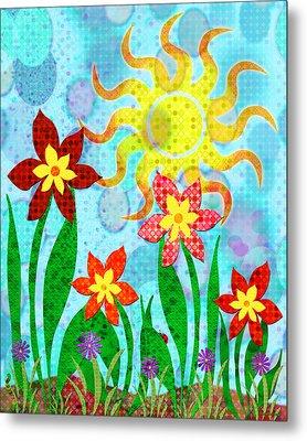 Fanciful Flowers Metal Print by Shawna Rowe