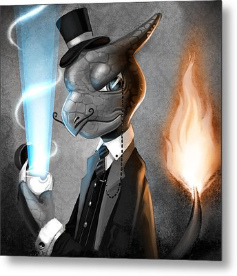 Metal Print featuring the digital art Fancy With Fire by Michael Myers