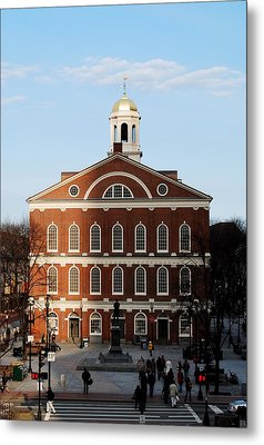 Metal Print featuring the photograph Faneuil Hall At Sunset by Caroline Stella