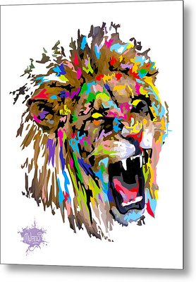 Metal Print featuring the painting Fangs by Anthony Mwangi