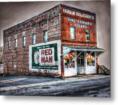Fannin Tobacco And Candy Company Metal Print
