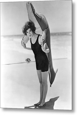 Fanny Brice And Beach Toy Metal Print