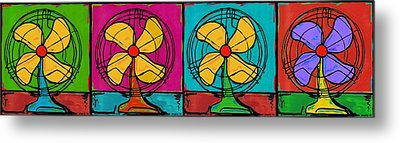 Fans In A Row Metal Print by Dale Moses