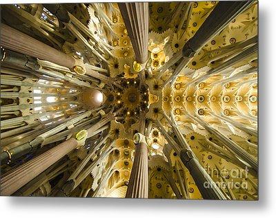 Fantabulous Sagrada Ceiling Metal Print by Deborah Smolinske