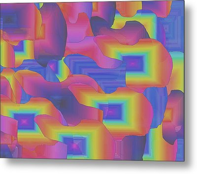 Metal Print featuring the digital art Fantastic Less Intense by Gayle Price Thomas