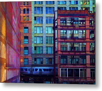 Metal Print featuring the pyrography Fantastical Chicago Loop by John Hansen