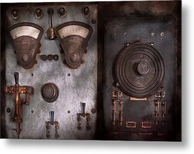 Fantasy - A Tribute To Steampunk Metal Print by Mike Savad