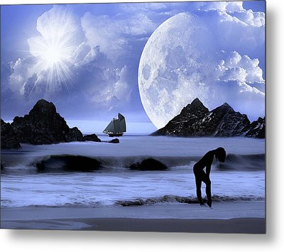 Fantasy Beach Metal Print by Nina Bradica