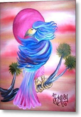 Metal Print featuring the painting Fantasy Bird by The GYPSY And DEBBIE