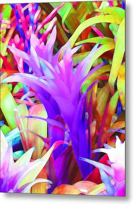 Fantasy Bromeliad Abstract Metal Print