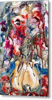 Fantasy Floral 2 Metal Print by Carole Goldman