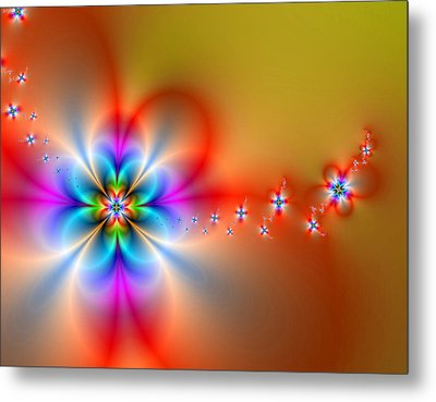 Fantasy Flowers 2 Metal Print by Ester  Rogers
