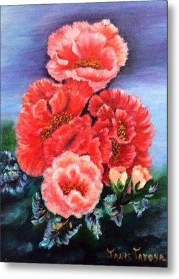 Fantasy Flowers Metal Print by Janis  Tafoya