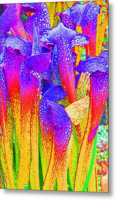 Fantasy Flowers Metal Print by Margaret Saheed