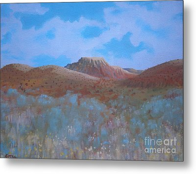 Metal Print featuring the painting Fantasy Hills by Suzanne McKay