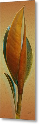 Fantasy Leaf Metal Print by Ben and Raisa Gertsberg