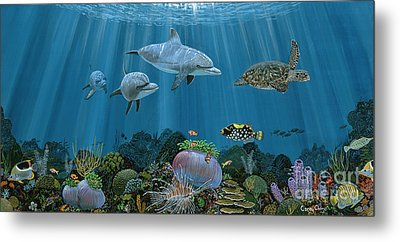 Fantasy Reef Re0020 Metal Print by Carey Chen