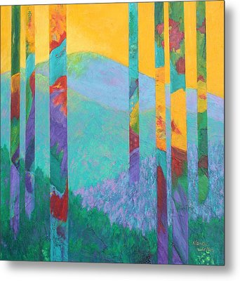 Fantasy Ridge Metal Print by Nancy Jolley
