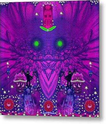 Fantasy Skull Forest Metal Print