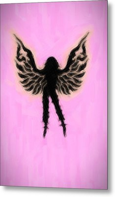 Fantasy Woman Angelish Metal Print
