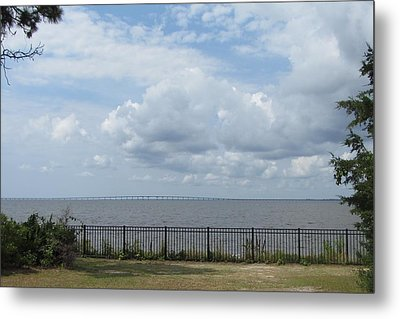 Metal Print featuring the photograph Far Away Bridge by Cathy Lindsey