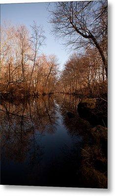 Far Mill River Reflects Metal Print by Karol Livote