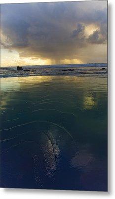 Metal Print featuring the photograph Faraway Rain by Adria Trail
