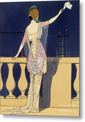 Farewell At Night Metal Print by Georges Barbier