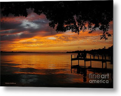 Metal Print featuring the photograph Farewell Sunset by Tannis  Baldwin