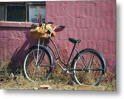 Farm Bicycle Metal Print by Mary Zeman